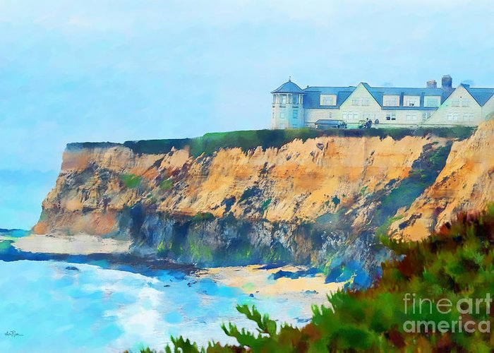 Half Moon Bay Golf Links Greeting Card featuring the photograph Half Moon Bay 2 by Betty LaRue