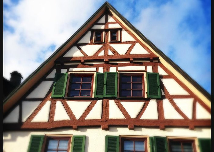 Half-timbered Greeting Card featuring the photograph Half-timbered house 02 by Matthias Hauser