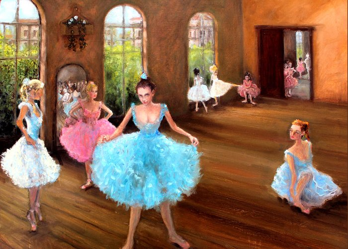 Hall Of Dance Greeting Card featuring the painting Hall Of Dance by Graham Keith