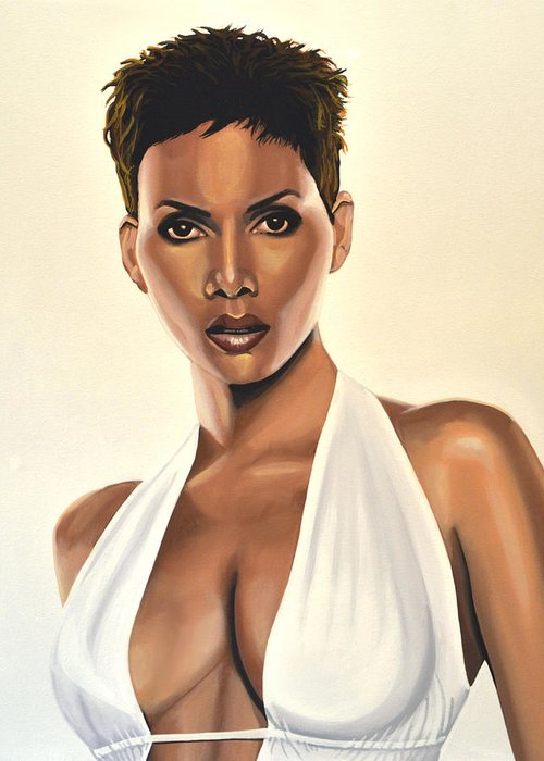 Halle Berry Greeting Cards