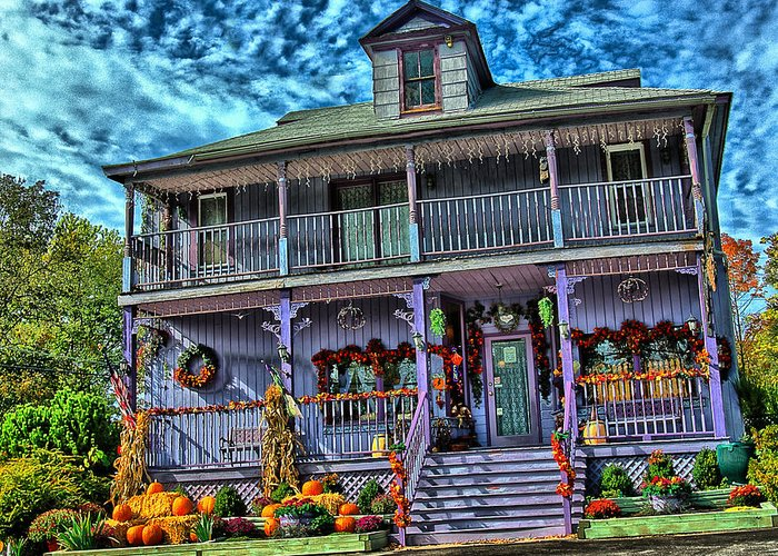 Halloween Greeting Card featuring the photograph Halloween House by Perry Frantzman