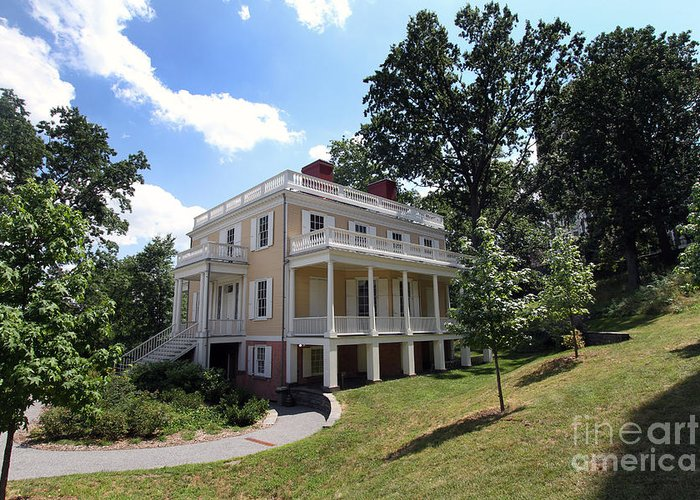 Hamilton Grange Greeting Card featuring the photograph Hamilton Grange by Steven Spak