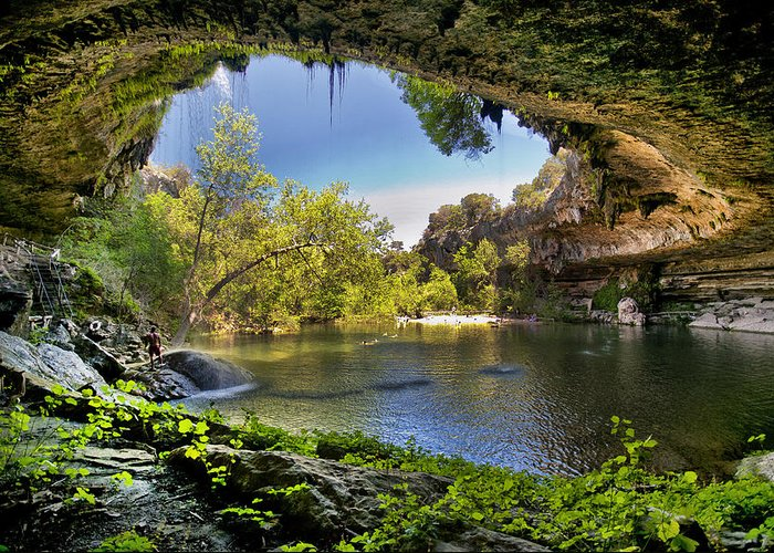 Hamilton Pool Greeting Card featuring the photograph Hamilton Pool by Lisa Spencer