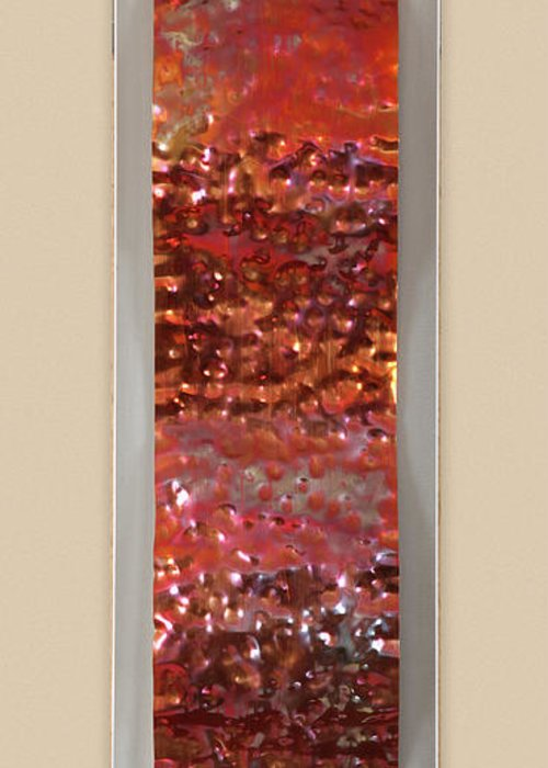 Abstract Greeting Card featuring the sculpture Hammered by Rick Roth