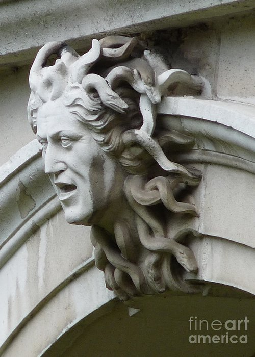 Surrey Greeting Card featuring the photograph Hampton Court Palace Medusa by Deborah Smolinske