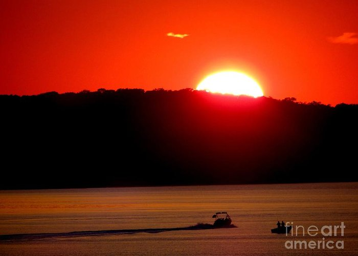 Sunset Greeting Card featuring the photograph Hamptons Sunset by Ed Weidman