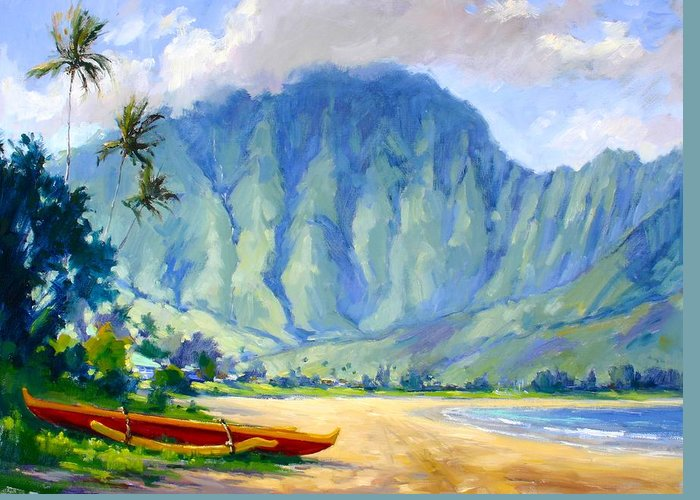 Hawaii Greeting Card featuring the painting Hanalei Style by Jenifer Prince