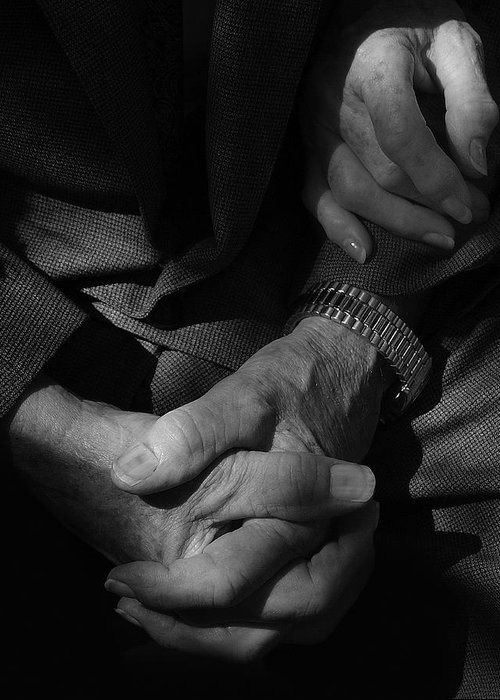 Black And White Photography Greeting Card featuring the photograph Hands Of Time by Steven Milner