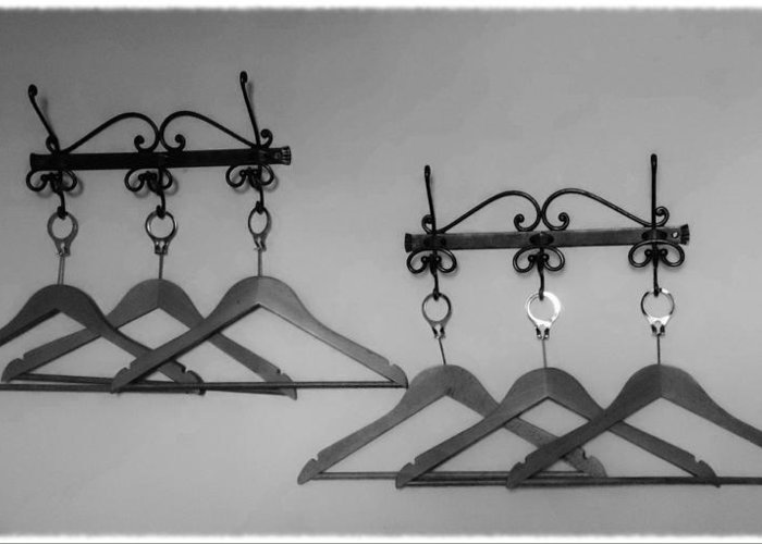 Fashion Greeting Card featuring the photograph Hangers by Dany Lison