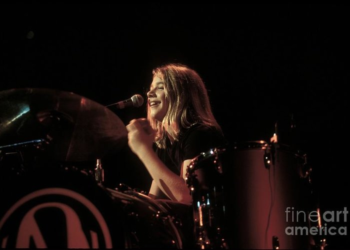 Drummer Greeting Card featuring the photograph Hanson by Concert Photos