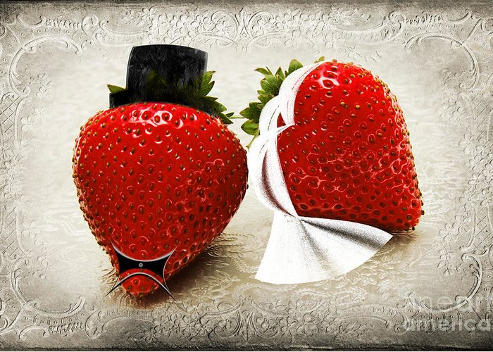 Strawberries Greeting Card featuring the photograph Happily Berry After by Andee Design