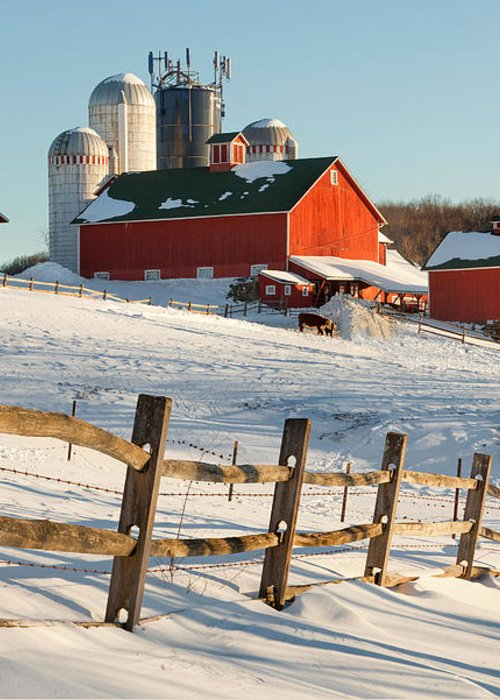 Barnyard Greeting Card featuring the photograph Happy Acres Farm by Bill Wakeley
