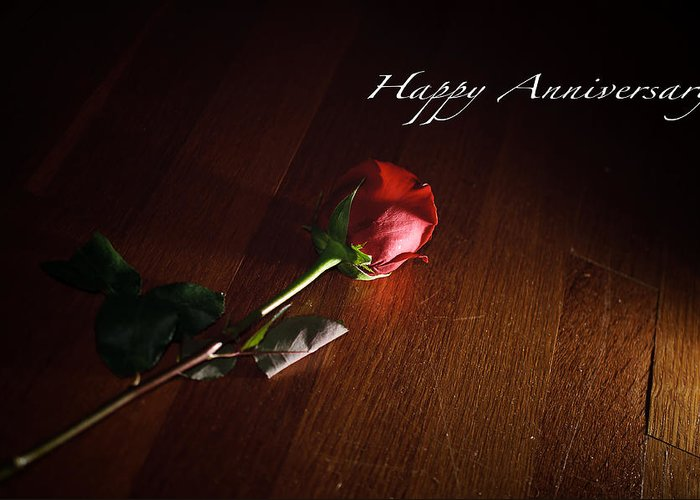 Happy Greeting Card featuring the photograph Happy Anniversary by Marco Parodi