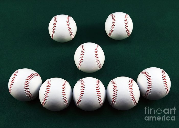 Happy Balls Greeting Card featuring the photograph Happy Balls by John Rizzuto