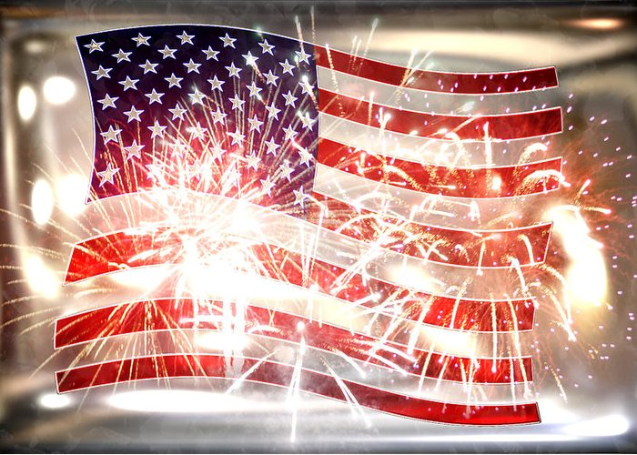 Declaration Of Independence Greeting Card featuring the photograph Happy Birthday America by Li  van Saathoff