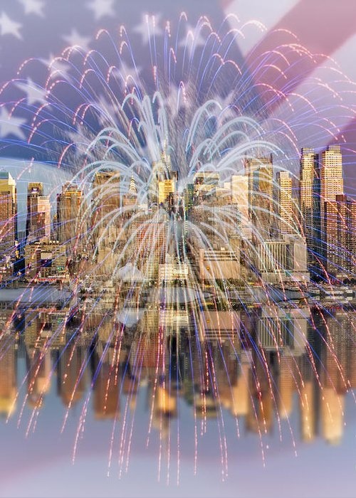 America Greeting Card featuring the photograph Happy Birthday America by Susan Candelario