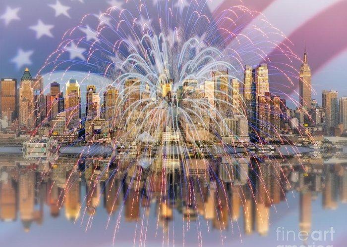 American Independance Digital Art Greeting Cards