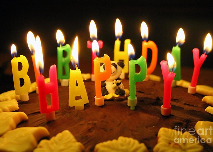 Happy Birthday Candles Greeting Card For Sale By Lars Ruecker