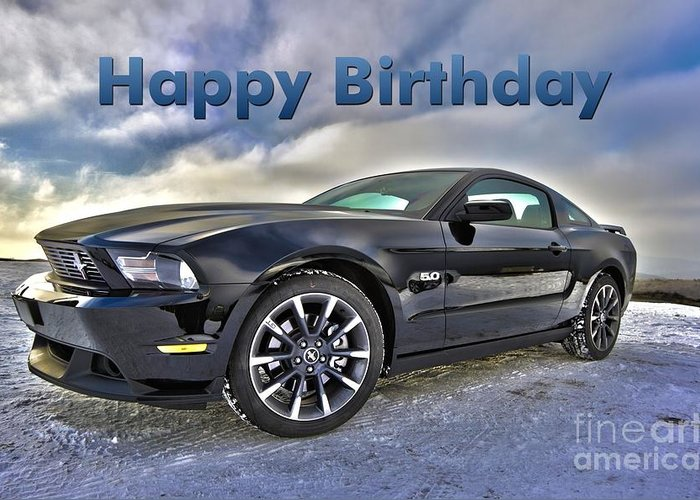 Happy Birthday Mustang Greeting Card For Sale By JH Designs