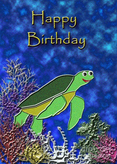 Happy Birthday Sea Turtle Greeting Card For Sale By Jeanette K