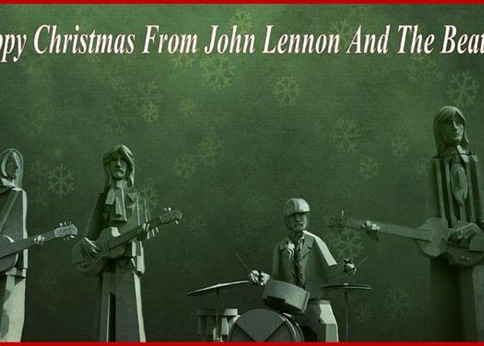Happy Christmas From John Lennon Greeting Card featuring the photograph Happy Christmas From John Lennon by Dan Sproul
