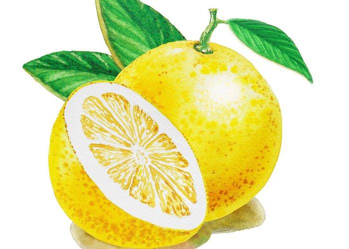 Grapefruit Paintings Greeting Cards