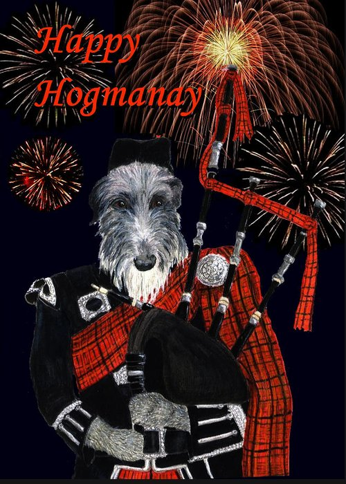 Holiday Greeting Card featuring the painting Happy Hogmanay by Stephanie Grant
