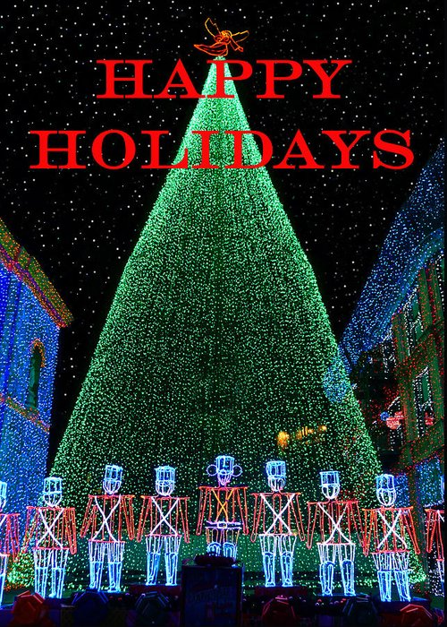 Fine Art Photography Greeting Card featuring the photograph Happy Holidays by David Lee Thompson