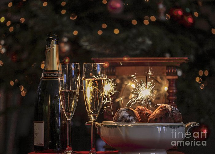 New Year's Eve Greeting Card featuring the photograph Happy New Year by Patricia Hofmeester
