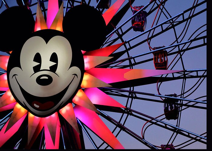 Mickey Greeting Card featuring the photograph Happy Times by Camille Lopez