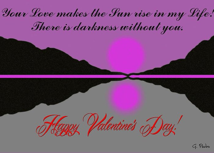 Happy Valentine's Day Greeting Card featuring the digital art Happy Valentine's Day by George Pedro