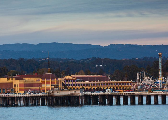 Santa Cruz Wharf Greeting Cards