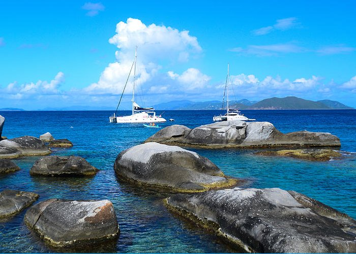 Harbor Greeting Card featuring the photograph Harbor At The Baths by  Michael Glenn