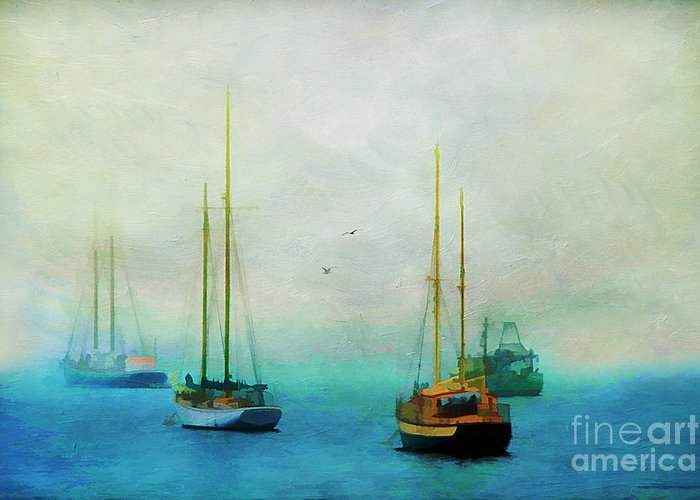 Acadia Greeting Card featuring the photograph Harbor Fog by Darren Fisher