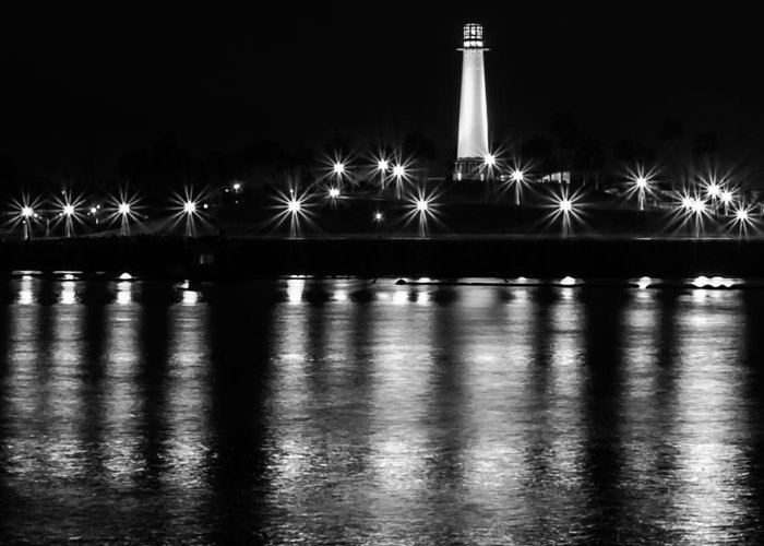 Lighthouse Greeting Card featuring the photograph Harbor Lighthouse by James Barber