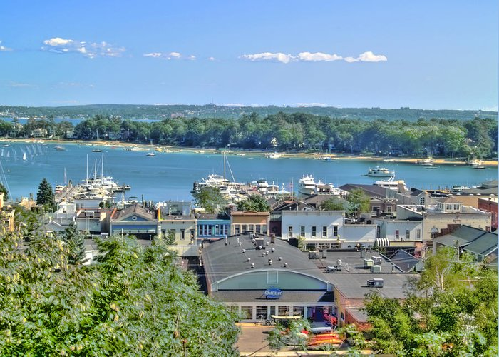 Lake Greeting Card featuring the photograph Harbor Springs Michigan by Bill Gallagher