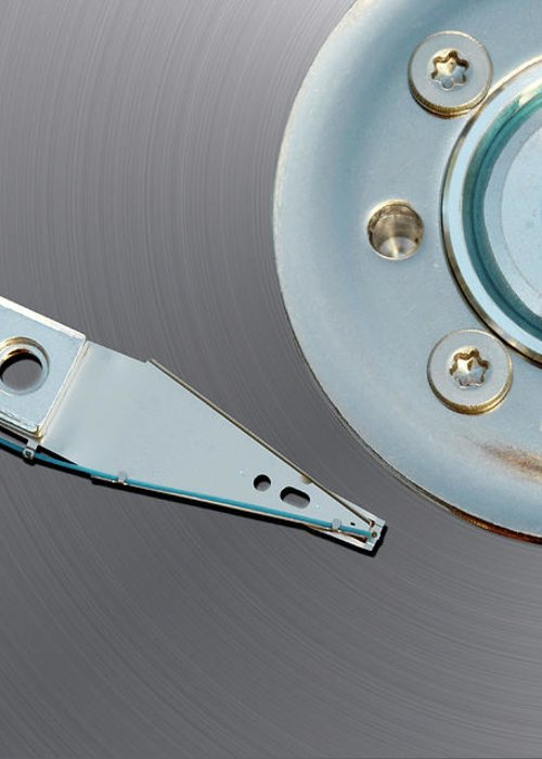 Computer Greeting Card featuring the photograph Hard Disc by Michal Boubin