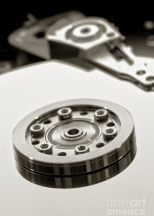 Computer Greeting Card featuring the photograph Hard Drive by Olivier Le Queinec