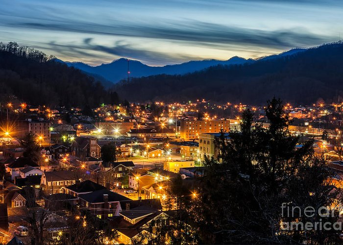 Harlan Greeting Card featuring the photograph Harlan Night Life by Anthony Heflin