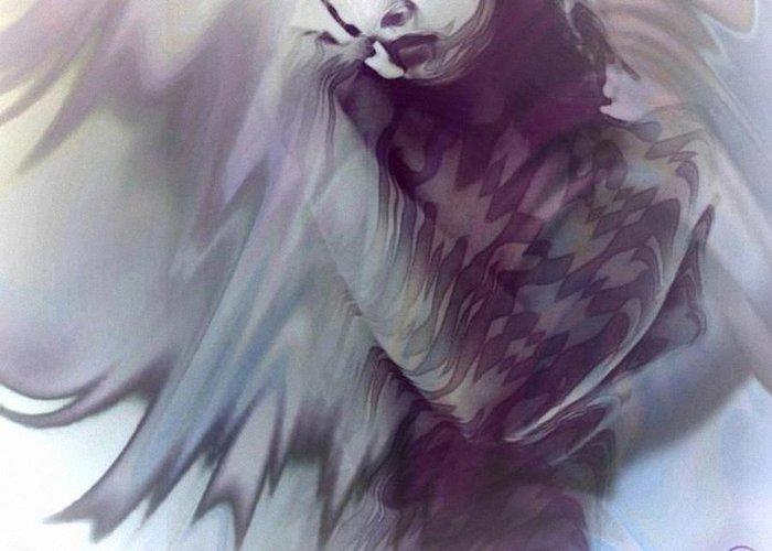 Woman Greeting Card featuring the digital art Harlequine by Gun Legler