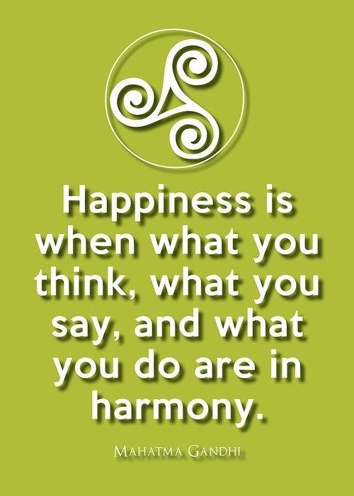 Wisdom Greeting Card featuring the digital art Harmony Green by Splendid Notion Series