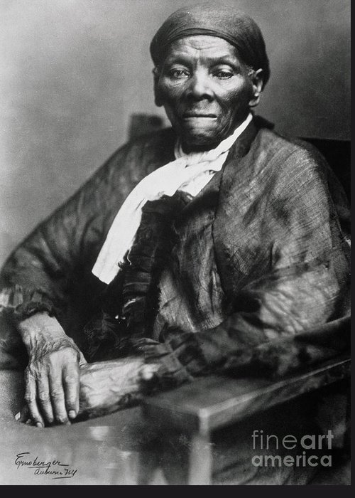 Female Greeting Card featuring the photograph Harriet Tubman by American School