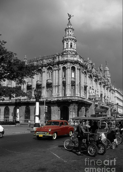 Cuba Greeting Card featuring the photograph Havana Red by James Brunker