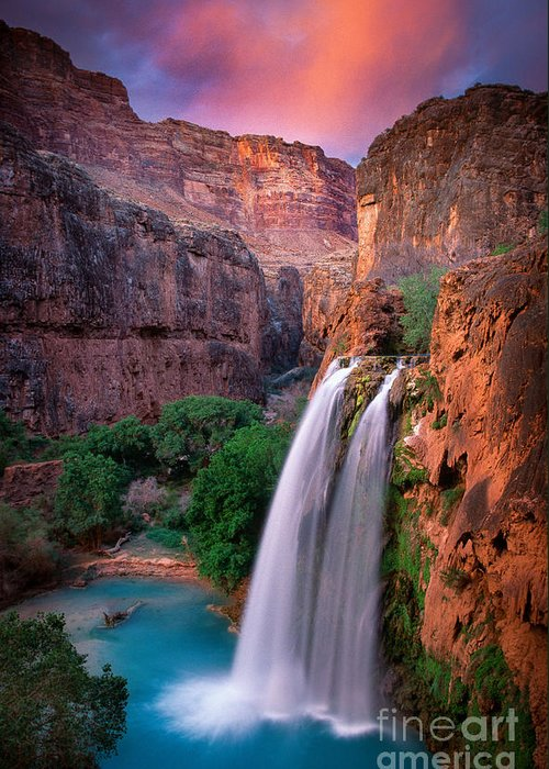 America Greeting Card featuring the photograph Havasu Falls by Inge Johnsson