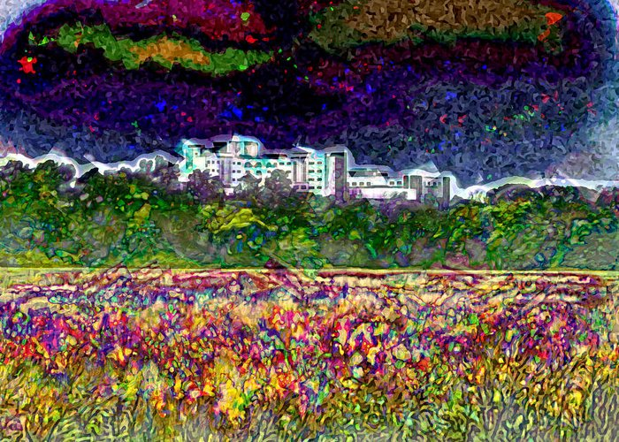 Haven Greeting Card featuring the digital art Haven by David Addams