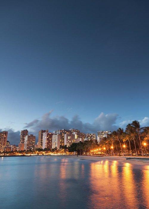 Honolulu Greeting Card featuring the photograph Hawaii, Oahu, Honolulu by Michele Falzone