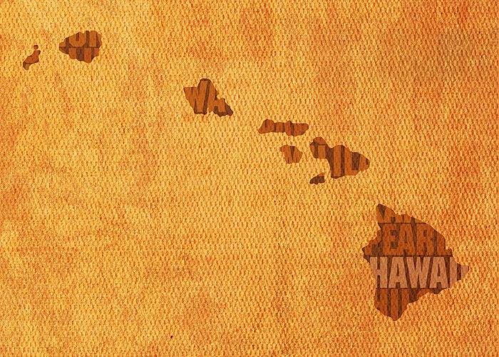 Hawaii Mixed Media Greeting Cards