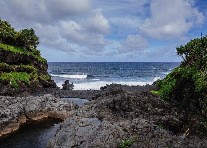 Hawaii Greeting Card featuring the photograph Hawaiian Surf by John Johnson