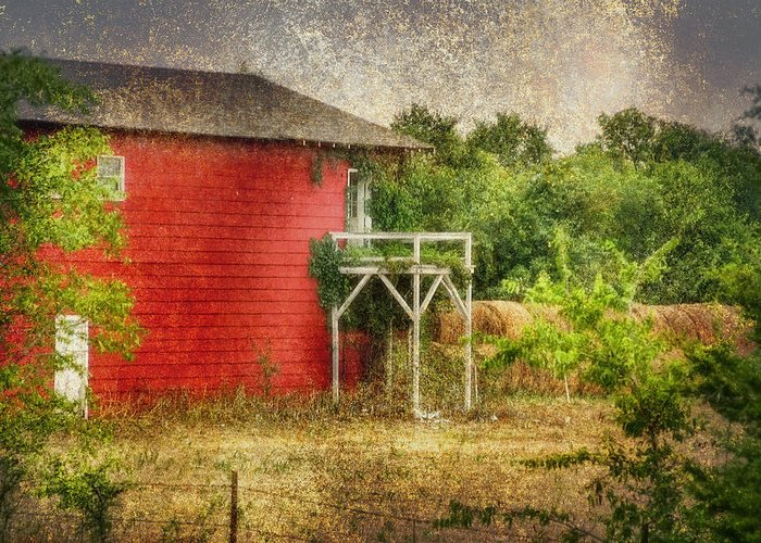 Barn Greeting Card featuring the photograph Hay by Joan Bertucci