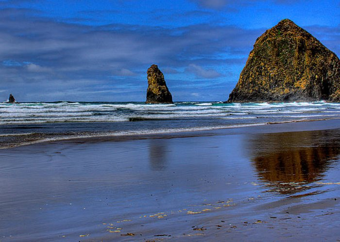 Cannon Beach Greeting Card featuring the photograph Haystack Rock And The Needles II by David Patterson